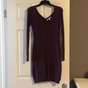Long sleeve light purple sweater dress
